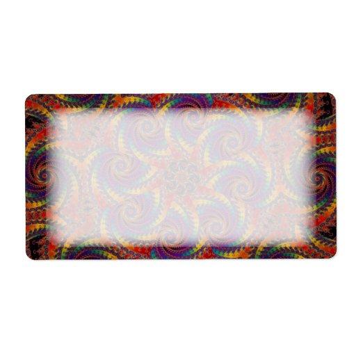 Spiral Octopus Psychedelic Rainbow Fractal Art Label Zazzle