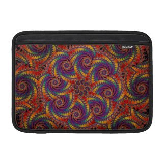 Spiral Octopus Psychedelic Rainbow Fractal Art MacBook Air Sleeve