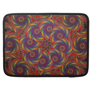 Spiral Octopus Psychedelic Rainbow Fractal Art MacBook Pro Sleeve
