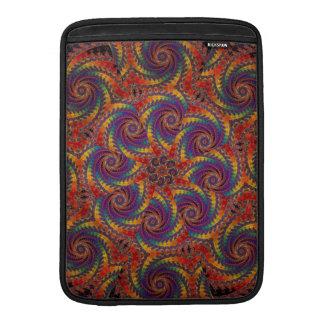 Spiral Octopus Psychedelic Rainbow Fractal Art MacBook Sleeve