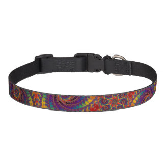 Spiral Octopus Psychedelic Rainbow Fractal Art Pet Collar