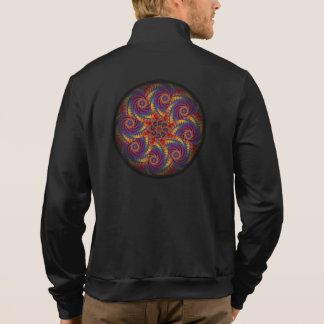Spiral Octopus Psychedelic Rainbow Fractal Art Printed Jacket