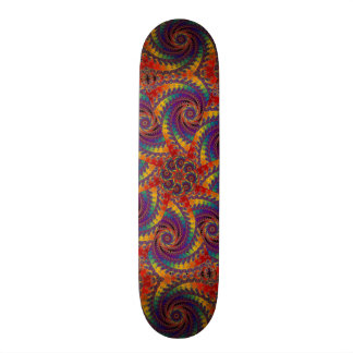 Spiral Octopus Psychedelic Rainbow Fractal Art Skateboard