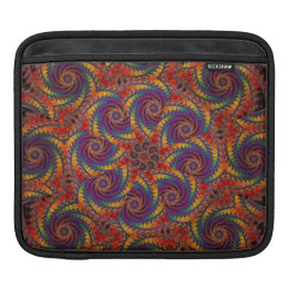 Spiral Octopus Psychedelic Rainbow Fractal Art Sleeve For iPads