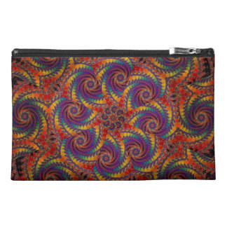 Spiral Octopus Psychedelic Rainbow Fractal Art Travel Accessory Bag