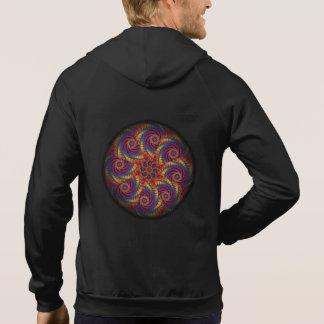 Spiral Octopus Psychedelic Rainbow Fractal Art Sweatshirt