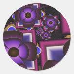 Spiral of Flowers Round Stickers