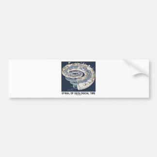 Spiral Of Geological Time (Earth's History Spiral) Car Bumper Sticker