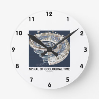 Spiral Of Geological Time (Earth's History Spiral) Round Wall Clock