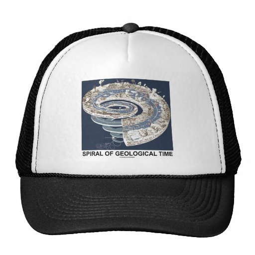 Spiral Of Geological Time (Earth's History Spiral) Trucker Hat