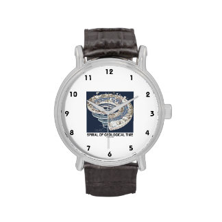 Spiral Of Geological Time (Earth's History Spiral) Wrist Watch