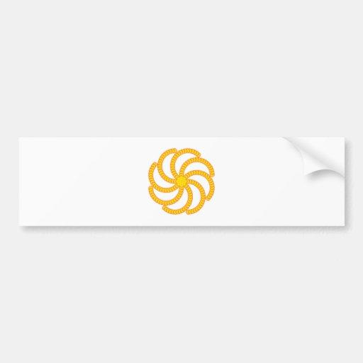 Spiral of half-moons spiral crescents bumper stickers