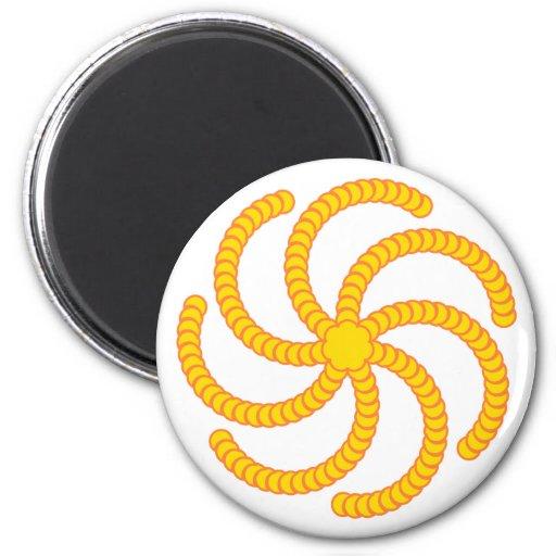 Spiral of half-moons spiral crescents fridge magnet