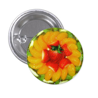Spiral of juicy fruityness pinback button