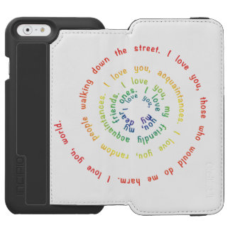 Spiral of Love Wallet Phone Case