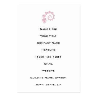 Spiral of Pink Elephants. Fun Cartoon. Large Business Card