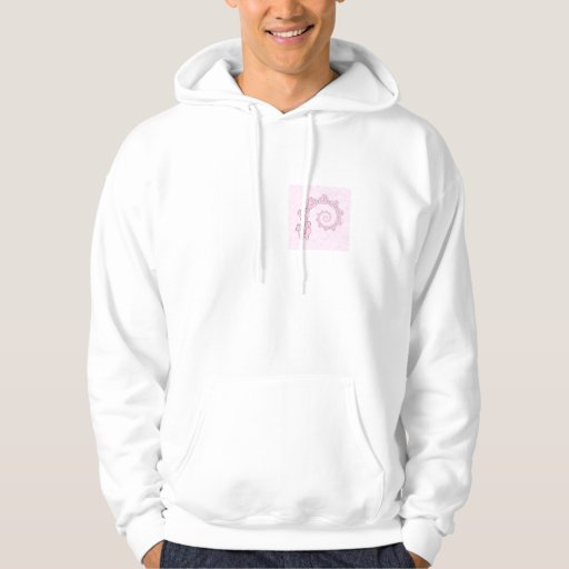 Spiral of Pink Elephants. Pink Background. Hoody