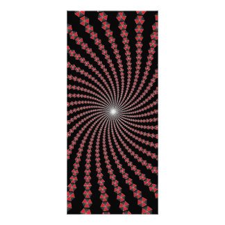 Spiral of Traingles Vector Art Custom Rack Cards
