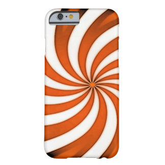 Spiral Orange Candy Cane Barely There iPhone 6 Case