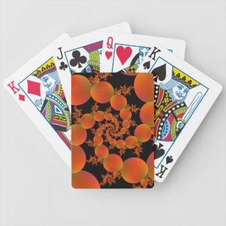 Spiral Oranges Bicycle Playing Cards