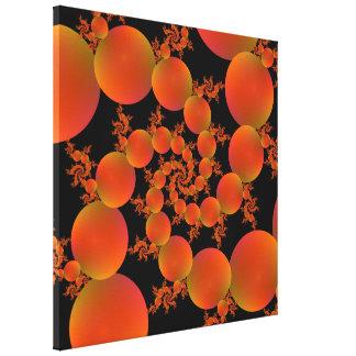 Spiral Oranges Canvas Print