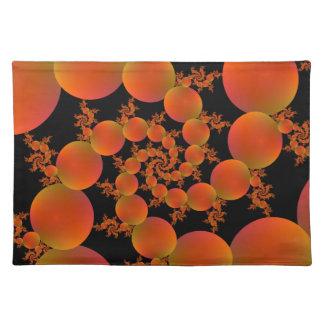 Spiral Oranges Cloth Placemat