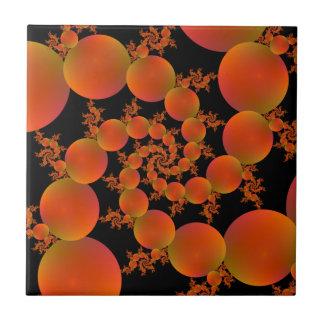 Spiral Oranges Ceramic Tiles