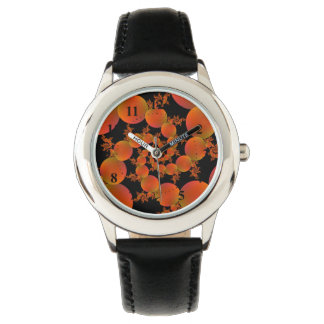 Spiral Oranges Wrist Watches