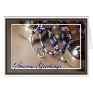 Spiral Ornament - Seasons Greetings - Blank Inside Card
