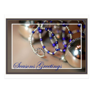 Spiral Ornament - Seasons Greetings - Blank Inside Postcard