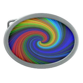 Spiral Oval Belt Buckle