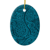 Spiral pattern Biscay Bay Ceramic Ornament