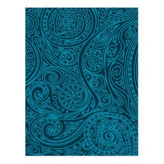 Spiral pattern Biscay Bay Postcard
