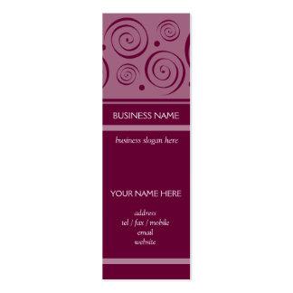 Spiral Pattern Bookmark Business Card