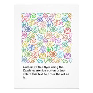 Spiral pattern spirals loops circles hand drawing custom flyer
