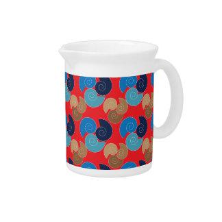 Spiral patterns pitcher