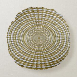 Spiral Pearls Round Pillow