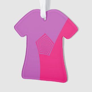 Spiral Pentagon in Pink and Violet Ornament