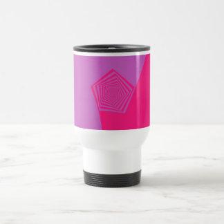 Spiral Pentagon in Pink Tones Mug