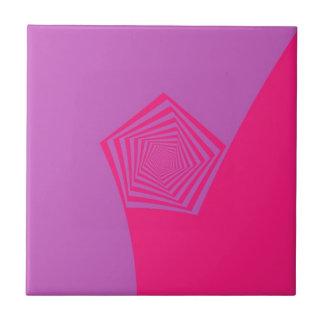 Spiral Pentagon in Pink Tones tile