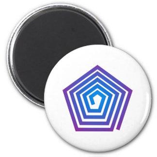Spiral pentagon spiral Pentagon 2 Inch Round Magnet
