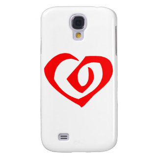 Spiral Pern Red Heart Samsung Galaxy S4 Cover
