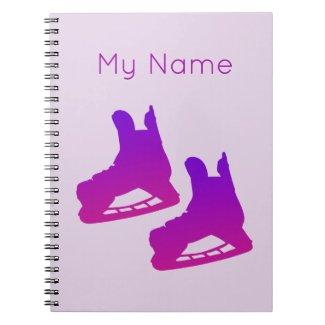 Spiral Photo Notebook hockey (pink)