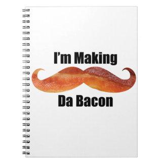 """Spiral Photo Notebook """"I'm Making Da Bacon"""""""
