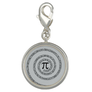 Spiral Pi Click Customize to Change Grey Color Charm