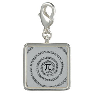 Spiral Pi Click Customize to Change Grey Color Photo Charms