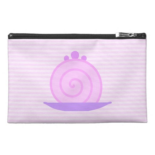 Spiral Pink Cake on Pink Stripes. Travel Accessory Bags
