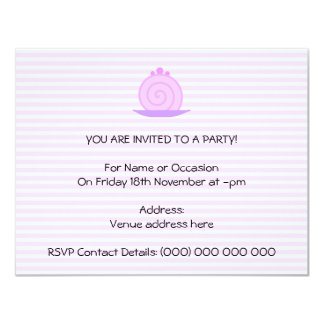 Spiral Pink Cake on Pink Stripes. Card
