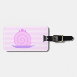 Spiral Pink Cake on Pink Stripes. Tags For Bags
