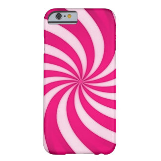 Spiral Pink Candy Cane Barely There iPhone 6 Case
